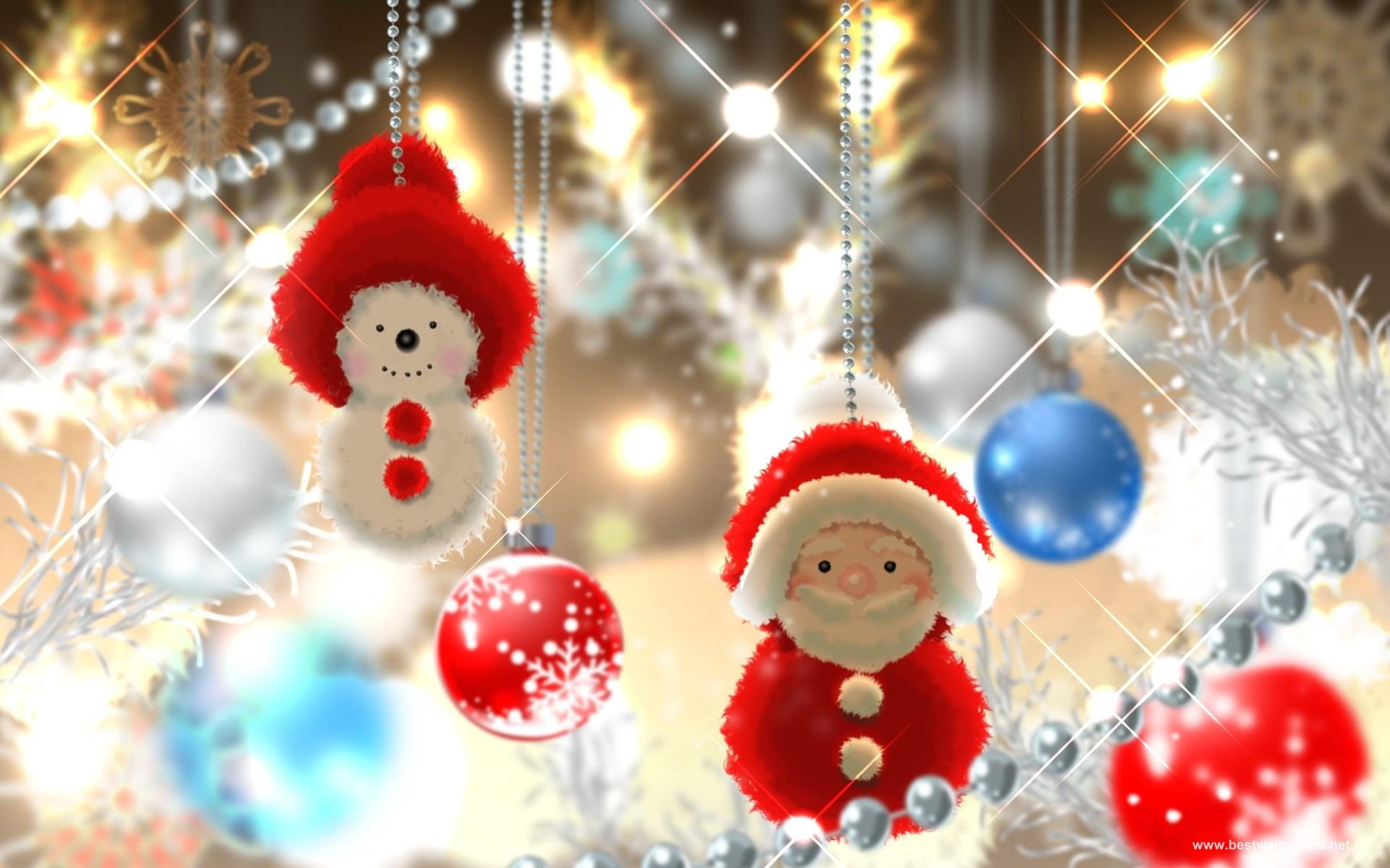 Новогодние игрушки снеговики