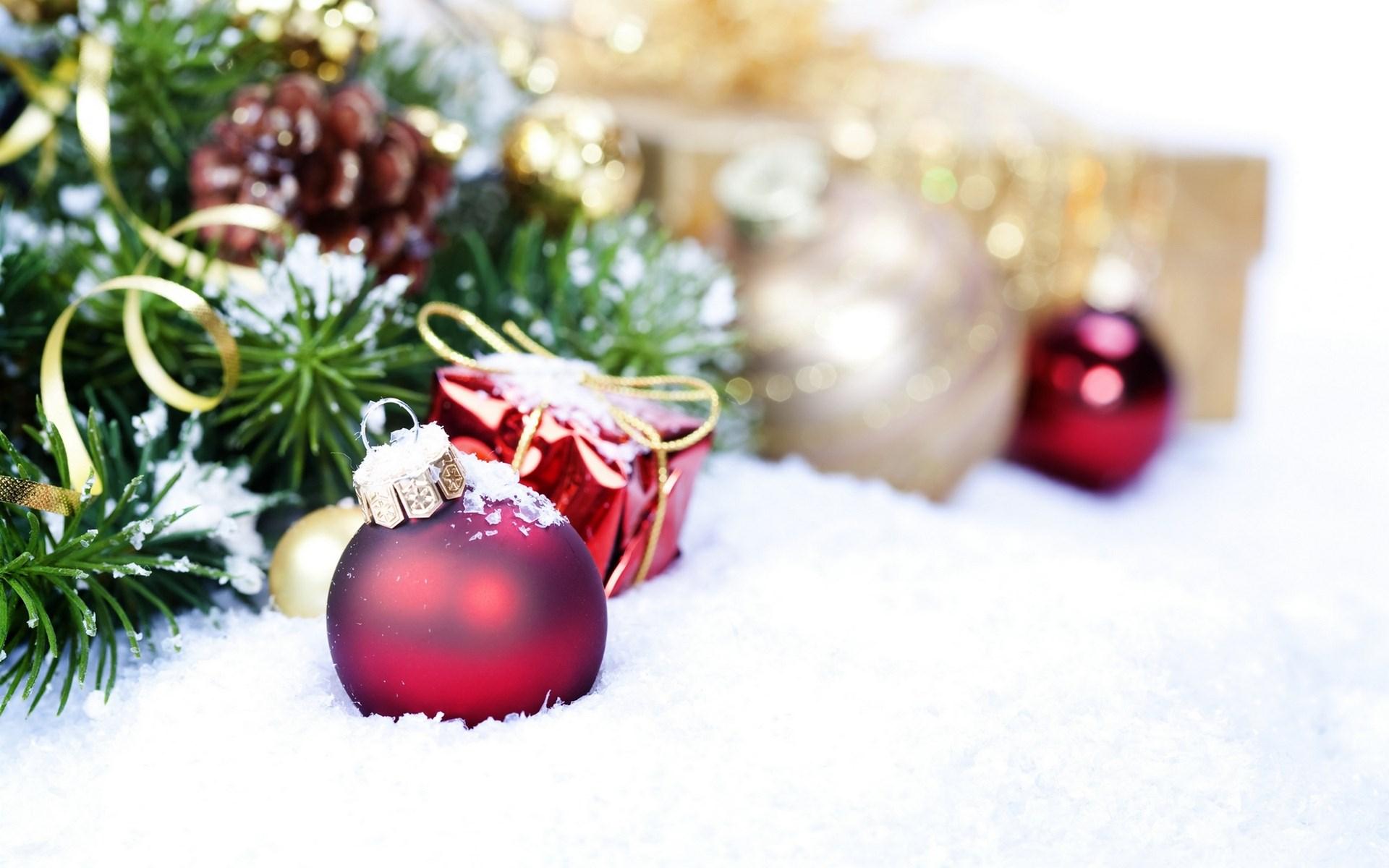 Новогодние Картинки На Рабочий Стол Снег
