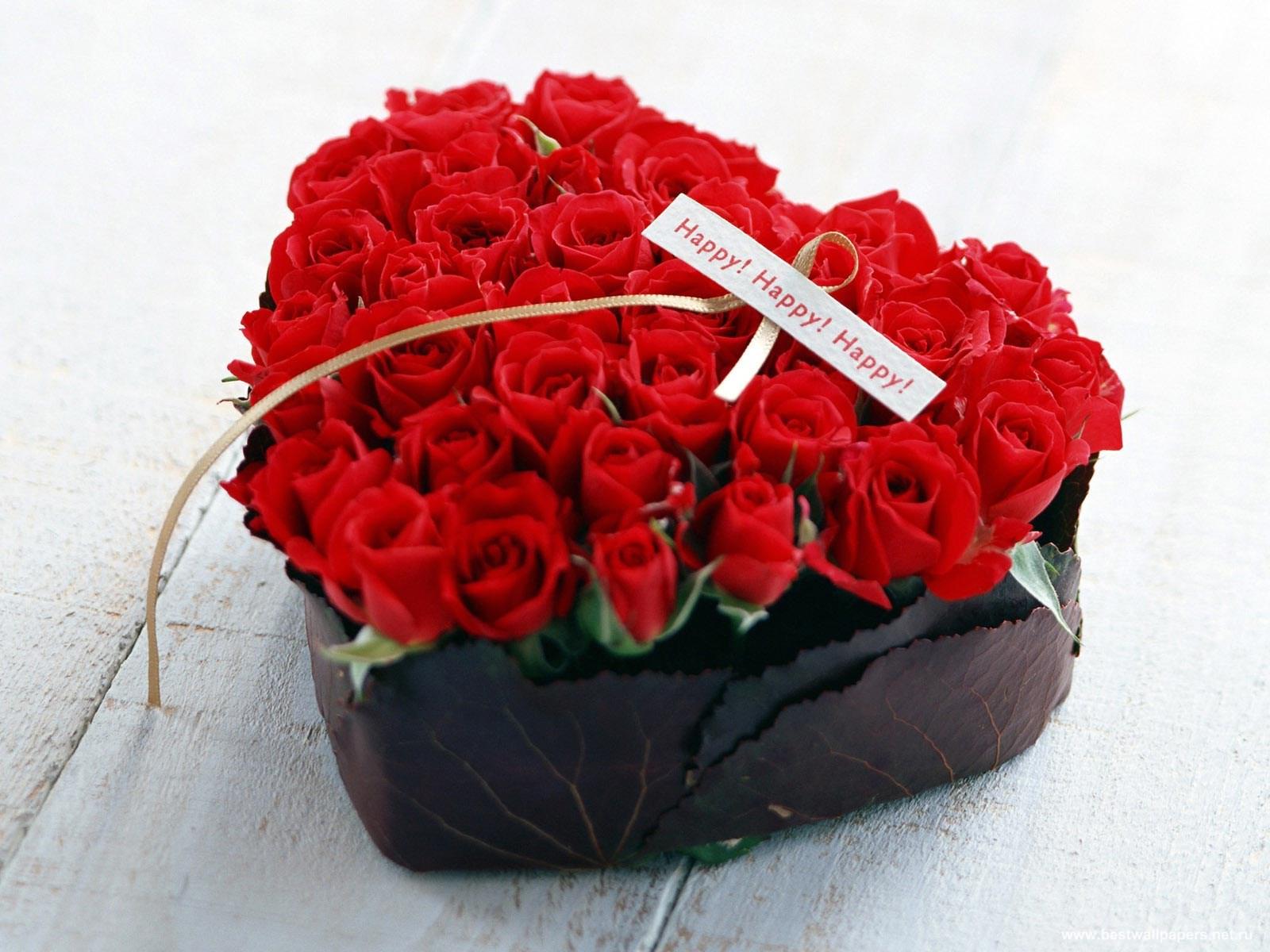 С днём валентина розы