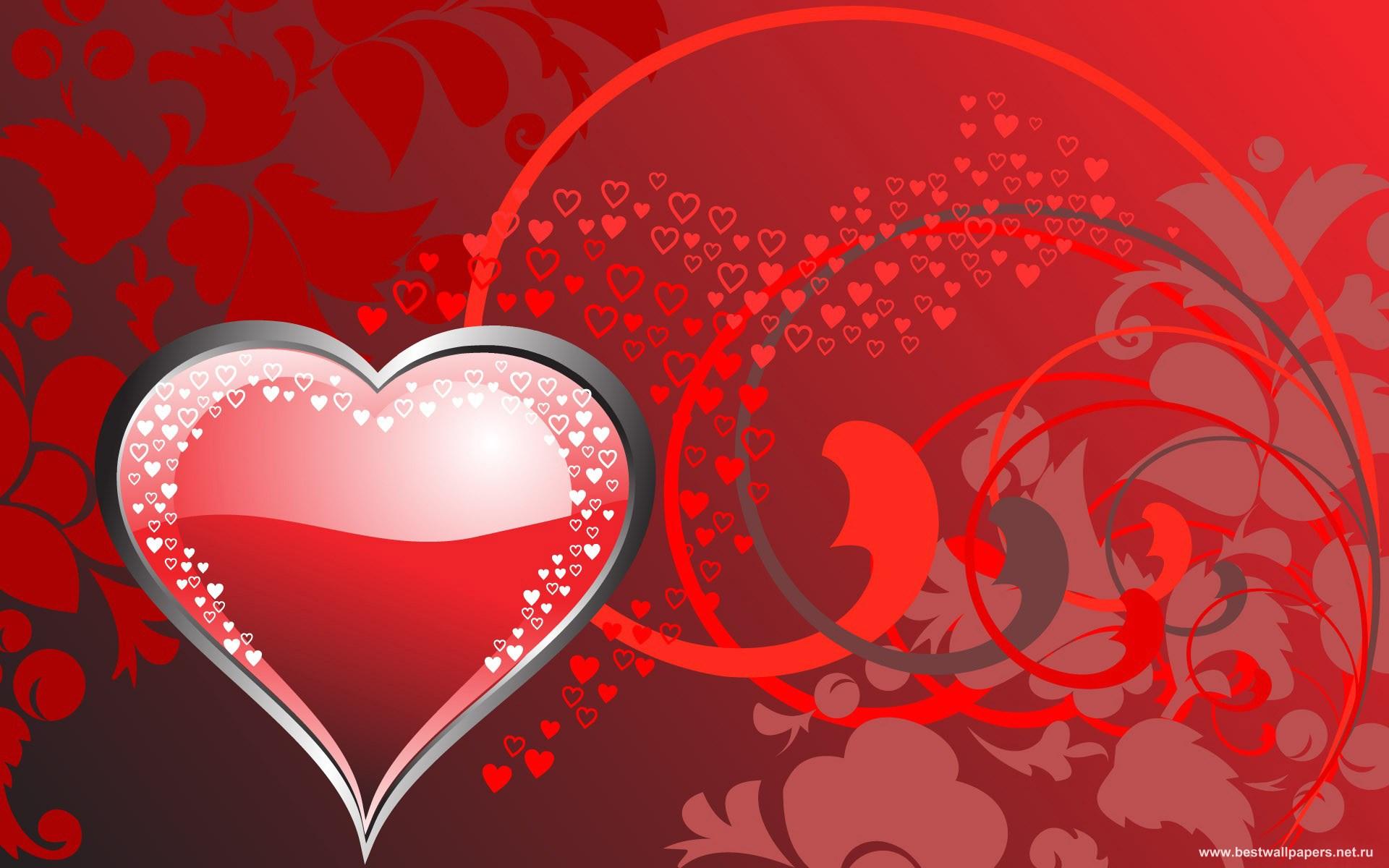 С Днем Сердца открытка - Любовь и романтика - Анимационные блестящие 10