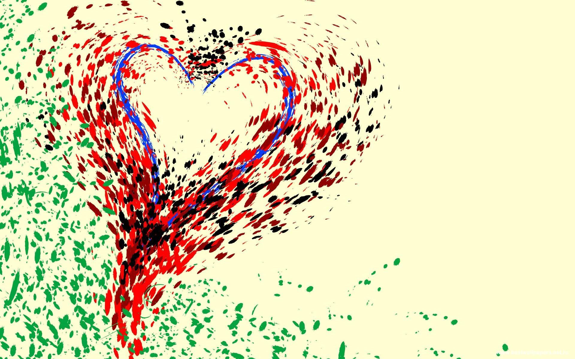 Рисунок сердца абстракция картинки и