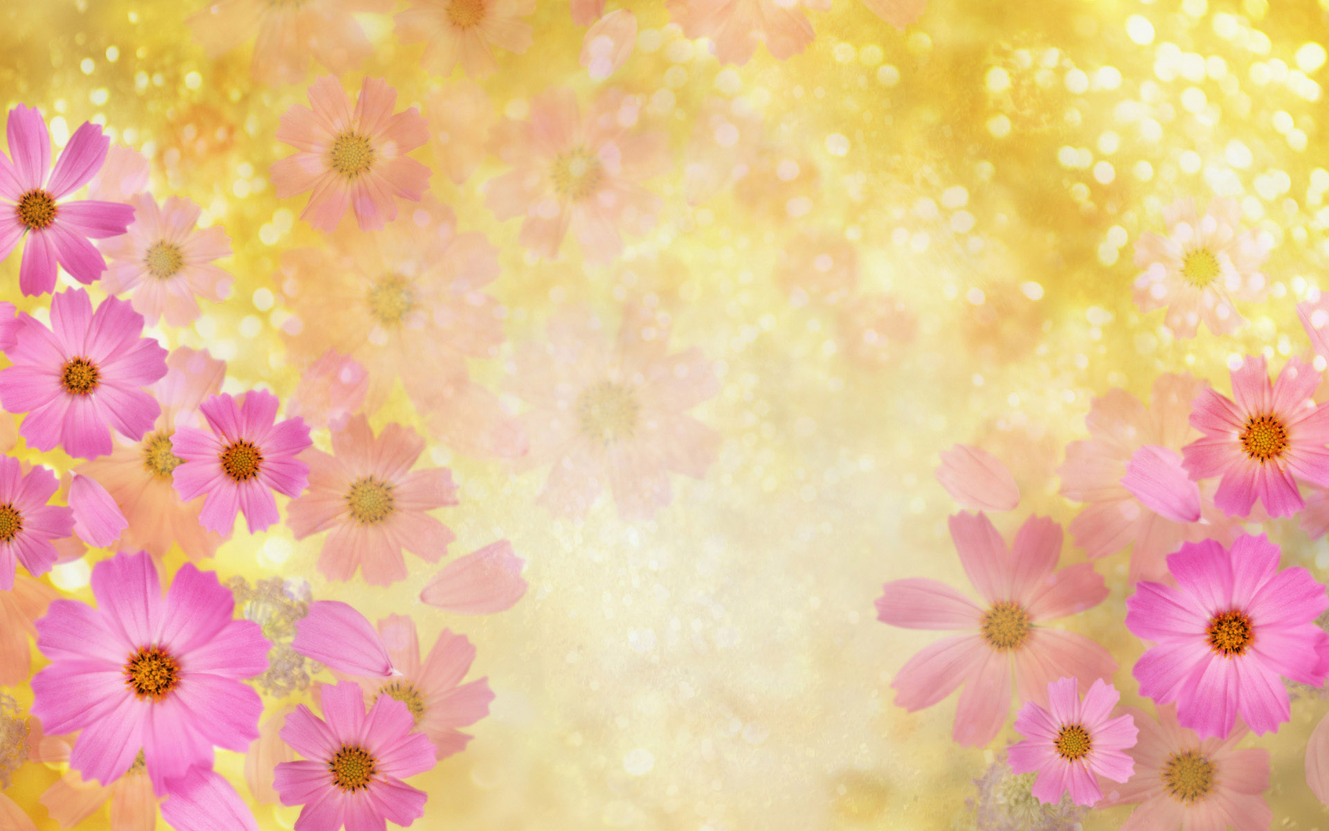 Breathtaking background flowers vector pics